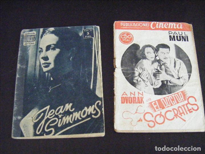 JLM LOTE 2 REVISTAS, CINEMA PAUL MUNI Nº 34 DOCTOR SOCRATES Y COLECCION IDOLOS Nº 81 JEAN SIMMONS (Cine - Revistas - Cinema)