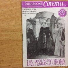 Cine: LAS PERLAS DE LA CORONA - SACHA GUITRY. Lote 124400323