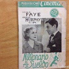 Cinema: MILLONARIO A SUELDO - DAVID BUTLER. Lote 124400683