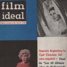 Cine: FILM IDEAL Nº 102 - REVISTA CINEMATOGRAFICA - DE CINE PORTADA MARILYN MONROE. Lote 124446151