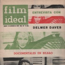 Cine: FILM IDEAL Nº 107 - REVISTA CINEMATOGRAFICA - DE CINE PORTADA MARLENE DIETRICH. Lote 124446551