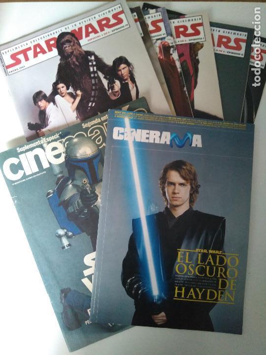 LOTE REVISTAS STAR WARS - SUPLEMENTOS CINEMANÍA, CINERAMA (Cine - Revistas - Cinemanía)