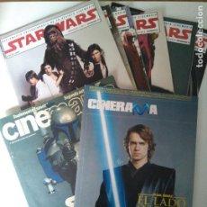Cine: LOTE REVISTAS STAR WARS - SUPLEMENTOS CINEMANÍA, CINERAMA. Lote 124613503