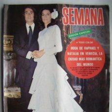 Cine: RAPHAEL. ROCÍO DURCAL. REVISTA SEMANA . 1972.. Lote 124699855