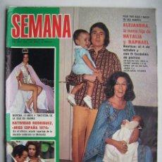 Cine: RAPHAEL. SOFÍA LOREN. REVISTA SEMANA . 1974.. Lote 124700239