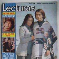Cine: RAPHAEL.LOLA FLORES.CONCHA VELASCO.MARILYN.ROGER MOORE Y SEAN CONNERY.. REVISTA LECTURAS . 1973.. Lote 124702667