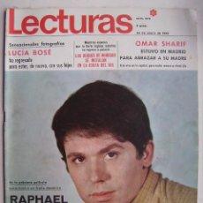 Cine: RAPHAEL. REVISTA LECTURAS . 1969.. Lote 124705131