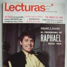 Cine: RAPHAEL.BRIGITTE BARDOT. REVISTA LECTURAS . 1968.. Lote 124706895