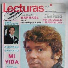 Cine: RAPHAEL. CARMEN SEVILLA. REVISTA LECTURAS . 1969.. Lote 124707543