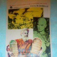 Cine: LOS DIEZ MANDAMIENTOS PRIMER CARTEL DE PRUEBA MAC 1959 CARTELISTA CINE DE REUS MACARI GOMEZ 55 X 25. Lote 125145403