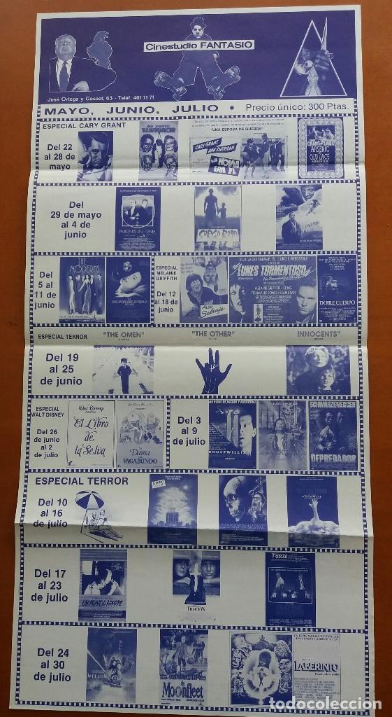 F-522-CARTEL PROGRAMA CINESTUDIO FANTASIO 1988. DEPREDADOR, WILLOW, LA PROFECÍA,DENTRO DEL LABERINTO (Cine - Reproducciones de carteles, folletos...)