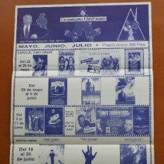 Cine: F-522-CARTEL PROGRAMA CINESTUDIO FANTASIO 1988. DEPREDADOR, WILLOW, LA PROFECÍA,DENTRO DEL LABERINTO. Lote 125441859