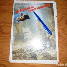 Cine: PUBLICIDAD DE LA PELICULA : LA HISTORIA INTERMINABLE. FOTOGRAMAS, DCBRE 1984. Lote 142994776