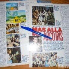 Cinema: RECORTE PRENSA : MEDIO SIGLO DEL ESTRENO DEL MAGO DE OZ . FOTOGRAMAS,JUNIO 1989. Lote 126176631