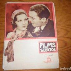 Cine: REVISTA FILMS SELECTOS Nº 101. SEPTBRE 1932. GABRIEL ALGARA ; JOEL MAC CREA ; POSTER. Lote 126178803