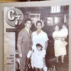 Cine: REVISTA CINE EN 7 DIAS - LOLA FLORES A VUELTO - Nº 114 AÑO 1963. Lote 126185619