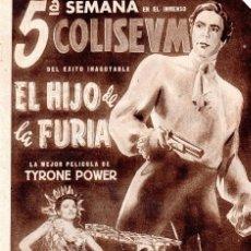 Cine: CINE, EL HIJO DE LA FURIA.. Lote 126190943