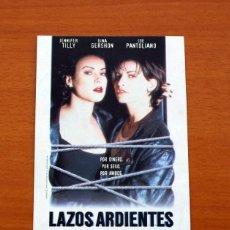 Cine: LAZOS ARDIENTES, BOUND - AÑO 1996 - JENNIFER TILLY, GINA GERSHON, JOE PANTOLIANO. Lote 126245055