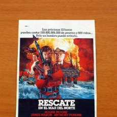Cinéma: RESCATE EN EL MAR DEL NORTE, NORTH SEA HIJACK - AÑO 1979 - ROGER MOORE, JAMES MASON, ANTHONY PERKINS. Lote 126268459