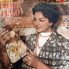 Cine: PRIMER PLANO LOLA FLORES NAVIDADES DE 1960 REVISTA FIRMADO POR LOLA. Lote 191122808