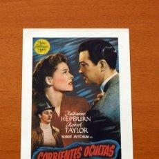 Cinema: CORRIENTES OCULTAS, UNDERCURRENT - AÑO 1946 - KATHARINE HEPBURN, ROBERT TAYLOR, ROBERT MITCHUM. Lote 126326851