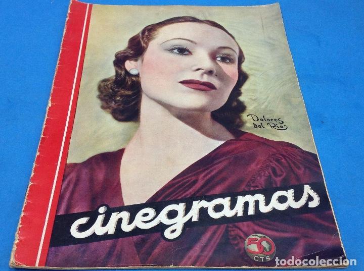 CINEGRAMAS - DOLORES DEL RIO - AÑO 1935 (Cine - Revistas - Cinegramas)