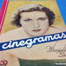 Cine: CINEGRAMAS - DANIELLE DARRIEUX - AÑO 1934. Lote 126573135