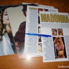 Cine: RECORTE PRENSA : MADONNA, SU VIDA EN FOTOS. FOTOGRAMAS, AGOSTO 1989. Lote 126633699