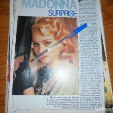 Cine: RECORTE PRENSA : MADONNA, SURPRISE. FOTOGRAMAS, FBRERO 1987. Lote 126733299