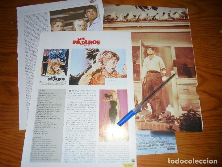 RECORTE PRENSA : REPORTAJE DE LA PELICULA : LOS PAJAROS. HITCHCOCK. CINERAMA (Cine - Revistas - Cinerama)