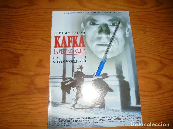 PUBLICIDAD DE LA PELICULA : KAFKA, LA VERDAD OCULTA. JEREMY IRONS. CINERAMA (Cine - Revistas - Cinerama)