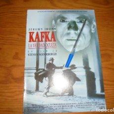 Cine: PUBLICIDAD DE LA PELICULA : KAFKA, LA VERDAD OCULTA. JEREMY IRONS. CINERAMA. Lote 126737719