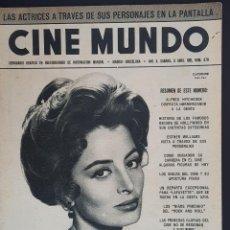 Cine: CAPUCINE CINE MUNDO 1961 Nº 470 PAULA PRENTIS ALFRED HITCHCOCK PETER CUSHING. Lote 126746083