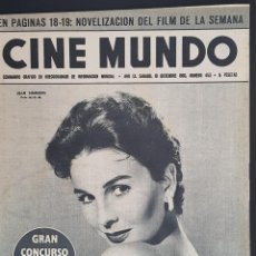 Cine: JEAN SIMMONS CINE MUNDO 1960 Nº 453 JOAN FONTAINE MARILYN MONROE BRIGITTE BARDOT. Lote 126746651