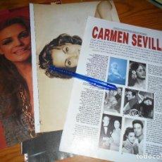 Cine: RECORTE PRENSA : ALBUM : CARMEN SEVILLA . FOTOGRAMAS, JULIO 1992. Lote 126798959