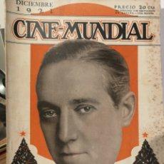 Cine: CINE MUNDIAL AÑO 1921 COMPLETO. 12 REVISTAS.. Lote 126799874