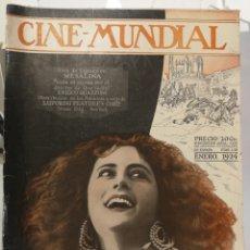 Cine: 12 REVISTAS CINE MUNDIAL 1924. AÑO COMPLETO!. Lote 126801806