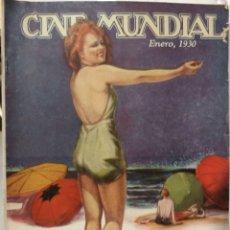Cine: 11 REVISTAS CINE MUNDIAL AÑO 1930. Lote 126803272