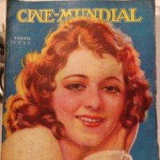 Cine: 12 REVISTAS CINE MUNDIAL AÑO 1932. AÑO COMPLETO!. Lote 126804080