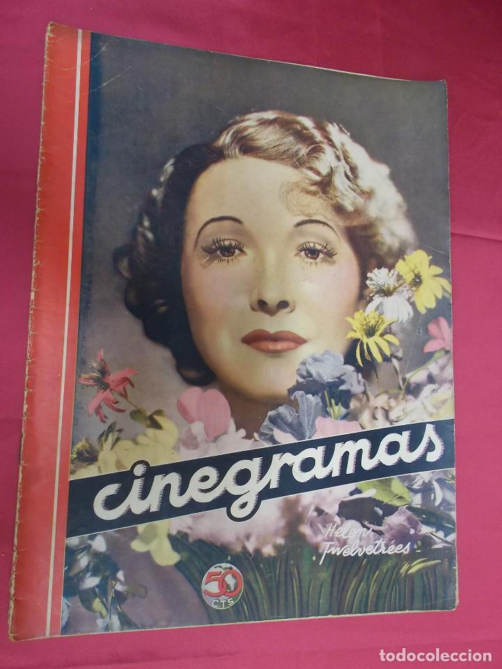 REVISTA CINEGRAMAS. Nº 7. OCTUBRE 1934. CINEGRAMAS HELEN TWELVETREES EN PORTADA (Cine - Revistas - Cinegramas)