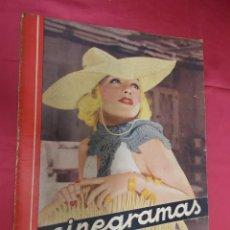 Cine: REVISTA CINEGRAMAS. Nº 10. NOVIEMBRE 1934. CINEGRAMAS CAROLE LOMBARD EN PORTADA. Lote 127005219