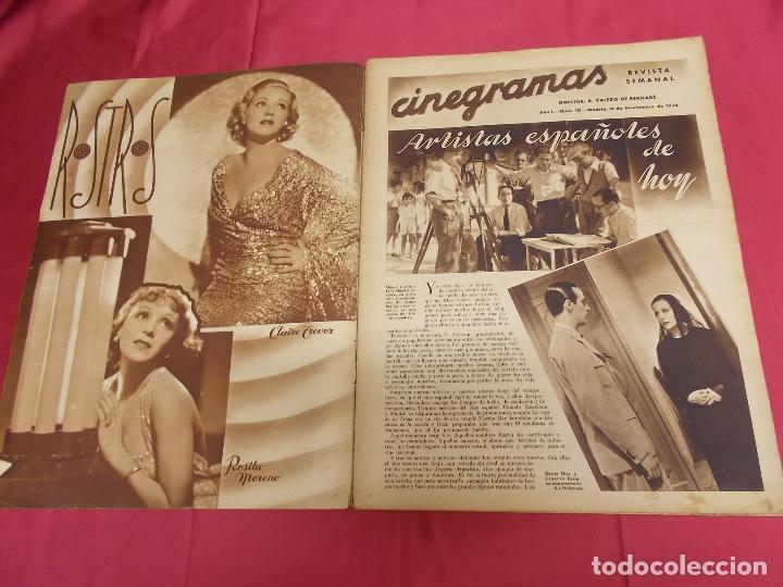 Cine: REVISTA CINEGRAMAS. Nº 10. NOVIEMBRE 1934. CINEGRAMAS CAROLE LOMBARD EN PORTADA - Foto 2 - 127005219