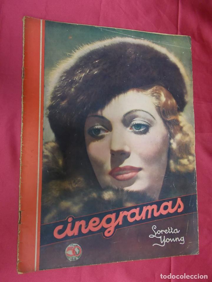 REVISTA CINEGRAMAS. Nº 17. ENERO 1935. CINEGRAMAS LORETTA YOUNG EN PORTADA (Cine - Revistas - Cinegramas)