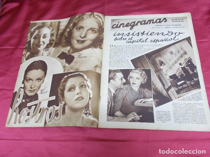 Cine: REVISTA CINEGRAMAS. Nº 17. ENERO 1935. CINEGRAMAS LORETTA YOUNG EN PORTADA - Foto 2 - 127007299