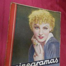 Cine: REVISTA CINEGRAMAS. Nº 19. ENERO 1935. CINEGRAMAS BRIGITTE HELM EN PORTADA. Lote 127007475