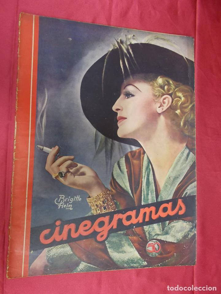 REVISTA CINEGRAMAS. Nº 22. FEBRERO 1935. CINEGRAMAS BRIGITTE HELM EN PORTADA (Cine - Revistas - Cinegramas)