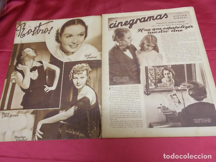 Cine: REVISTA CINEGRAMAS. Nº 22. FEBRERO 1935. CINEGRAMAS BRIGITTE HELM EN PORTADA - Foto 2 - 127007859