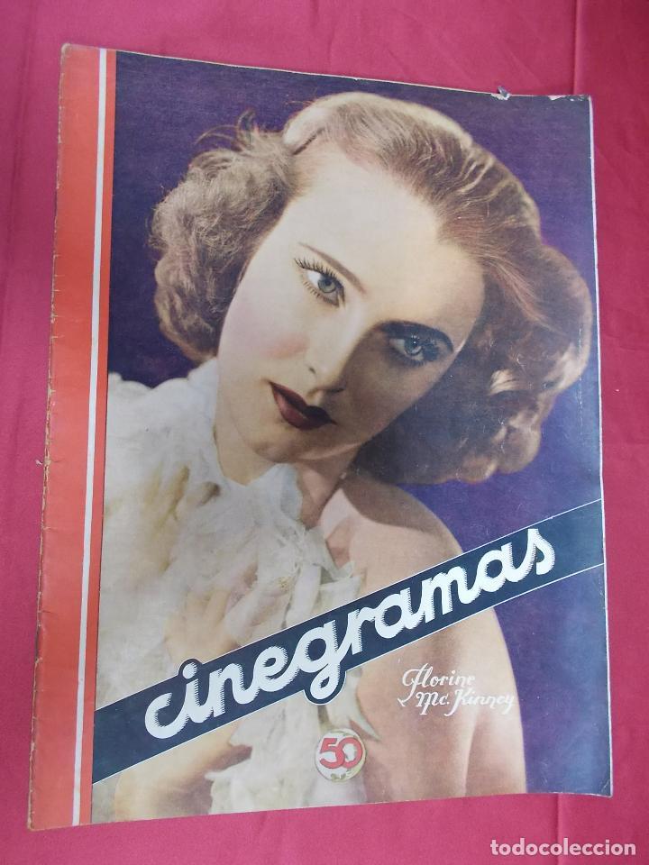 REVISTA CINEGRAMAS. Nº 55. SEPTIEMBRE 1935. CINEGRAMAS FLORINE KINNEY EN PORTADA (Cine - Revistas - Cinegramas)