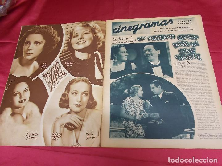 Cine: REVISTA CINEGRAMAS. Nº 55. SEPTIEMBRE 1935. CINEGRAMAS FLORINE KINNEY EN PORTADA - Foto 2 - 127008891