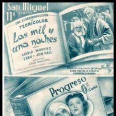 Cine: HOJA REVISTA, LAS MIL Y UNA NOCHE Y VINIERON LAS LLUVIAS.. Lote 127103927